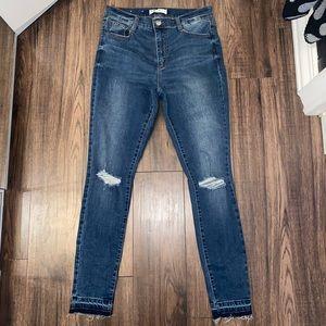 Garage Skinny Jeans High Rise